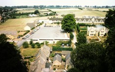 Chipping Campden School Aerial view 1976