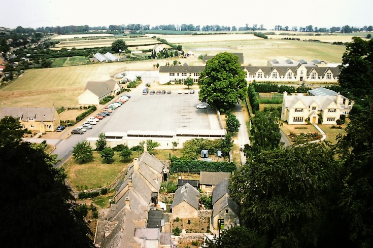 Chipping Campden School aerial view
