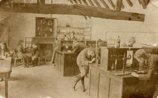 internal view of science lab at grammar schoolc.1900