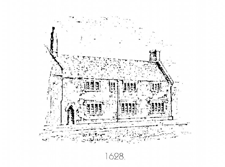 Sketch showing how the school may have looked before 1862