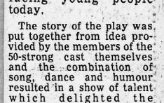 A School Rock Musical Dec 1982