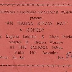 An Italian Straw Hat 1956