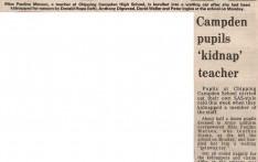 Campden Pupils Kidnapp Teacher July 1982