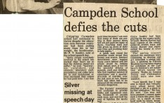 Campden School Defies the Cuts 1981
