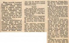 Records Tumble at Campden School Sports 1982