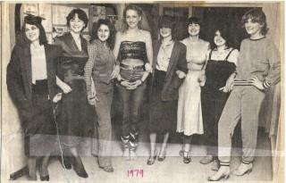 School girls as fashion models