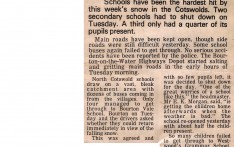 School hit in Snowbound Cotswolds Jan 1979