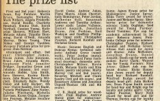 The Prize List 1982