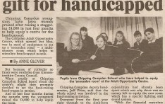 Youngsters £4000 gift for Handicapped