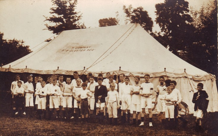 Boys, possibly Sports Day 1913