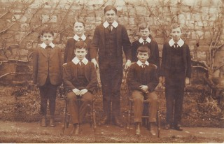 Boys, possibly boarders, c.1916 Alexander Thomas Franklin Brodie, standing second left