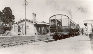 Railway Station, steam rail motor 69