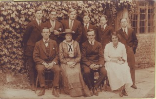 Mr & Mrs Cossens with prefects c.1917