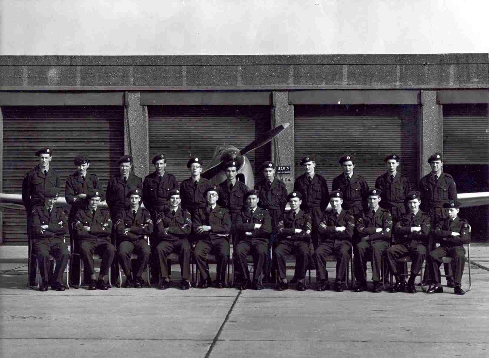ATC Annual Camp 1962, 'Chick' Fowles seated centre.