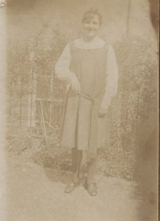Frances Waring at college c.1917