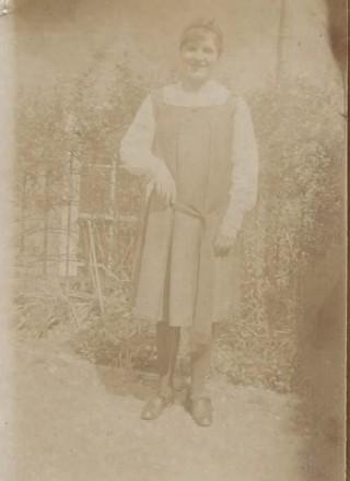 Frances Waring at college c.1917