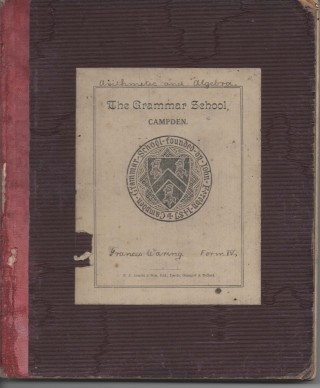 School exercise book cover