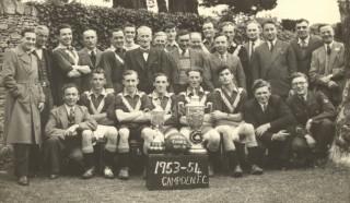Mr Winward with Campden Football Team, 1953/4