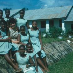 Judith at Njaluhuan School, Sierra Leone 1961