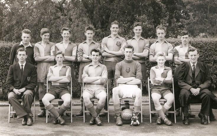 Boys First XI Football 1955-56