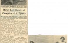 Hicks Best House at Campden G.S. Sports