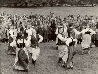 Polish dancers performing at Scuttlebrook Wake c.1955