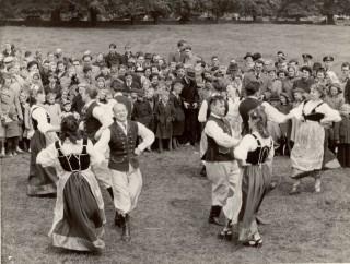 Polish dancers performing at Scuttlebrook Wake c.1955